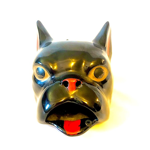 Terrier or boxer dog ashtray or ring keeper Japan